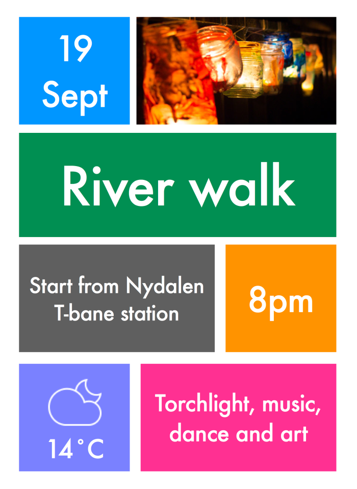 09 Flyer - River walk
