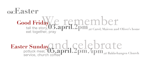 Graphic depicting Easter events.